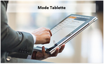 HP x360 mode tablette